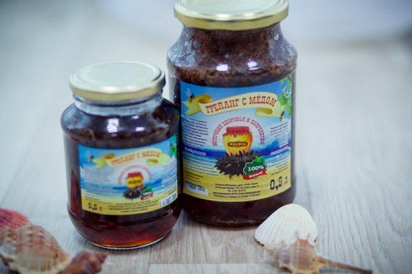 Заводская настойка трепанга с медом