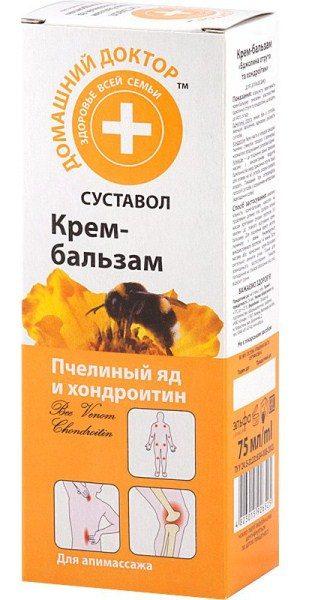 Крем-бальзам Пчелиный яд и хондроитин