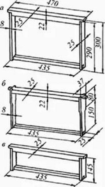 Схемы рамок для ульев