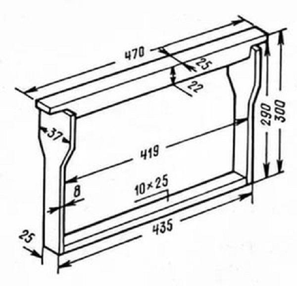 Схема рамки для улья