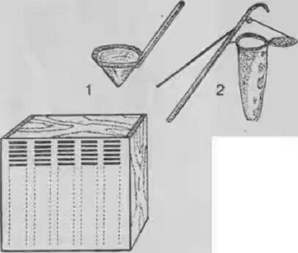 Конструкция Бутлерова с черпаком и роеснимателем