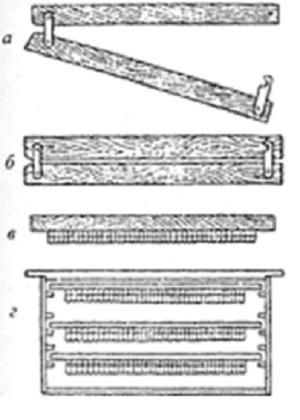 Схема приспособления для вывода маток пчел