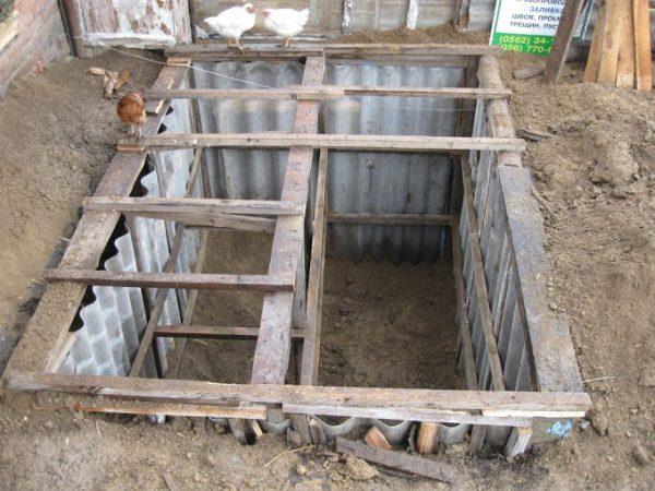 Организация ямы для кроликов