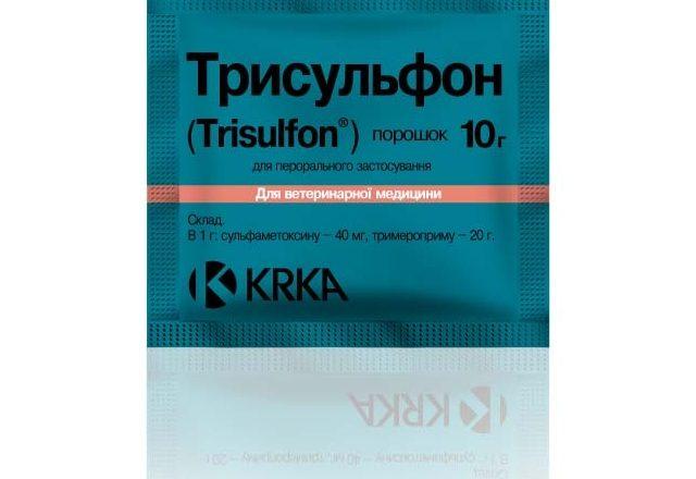 Препарат Трисульфон для лечения болезней у кроликов