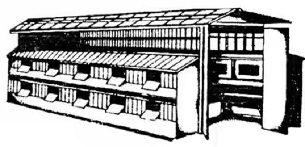 Схематичный рисунок шеда для кроликов