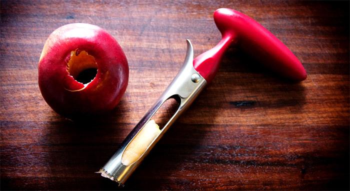 Приспособление для удаления сердцевины яблок