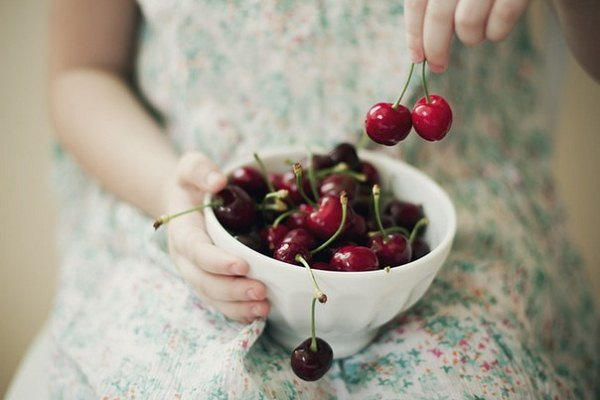 В вишне содержится большое количество железа
