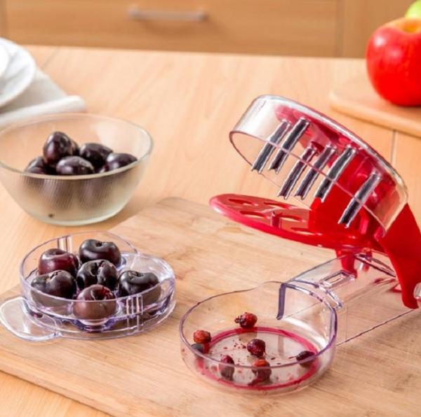 Полумеханическое устройство Cherry Remove позволяет очистить сразу 6 ягодок