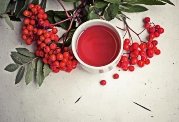 Чай со смородиной и рябиной повышает свойства иммунной системы, усиливает сопротивляемость организма