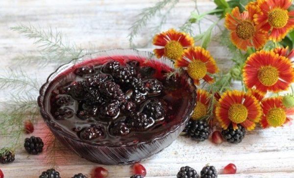 Варенье из цельных ягод ежевики