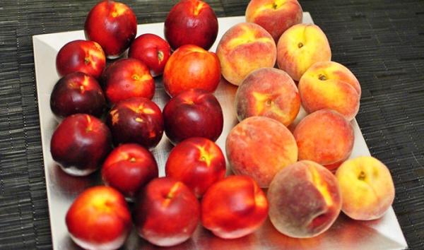Персиковые деревья делятся на четыре группы в зависимости от формы плода