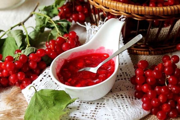 Из ягод калины можно приготовить соки, желе, заморозить их или засушить