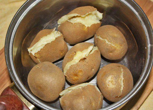 Отварной картофель сорт Киви