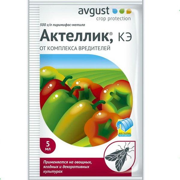 Актеллик - один из самых эффективных препаратов для борьбы с белокрылкой