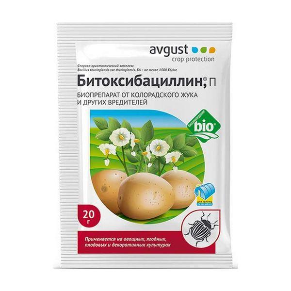 Битоксибациллин помогает от большинства вредителей картофеля зекура