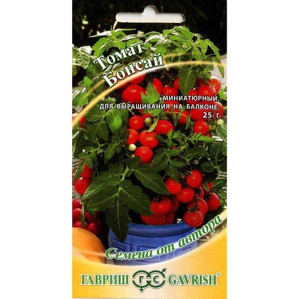 Упаковка с семенами томата Бонсай
