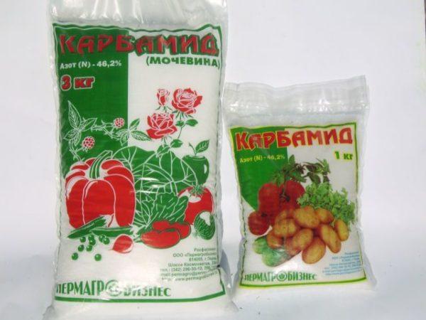 Карбамид - минеральное удобрение, используемое для подкормки кабачков