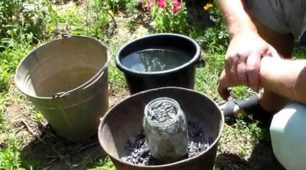 Подготовка зольного раствора