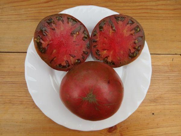 Вес плодов томата Шоколадный - 200-400 грамм