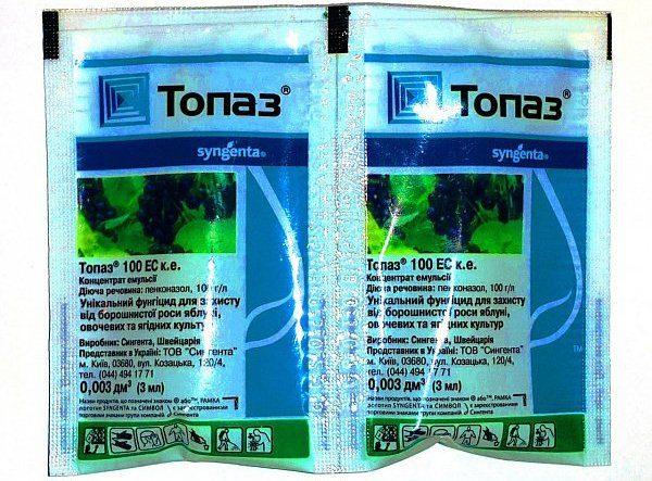 Фунгицид Топаз позволяет избавиться от таких сельскохозяйственных вредителей, как мучнистая роса, оидиум, ржавчина
