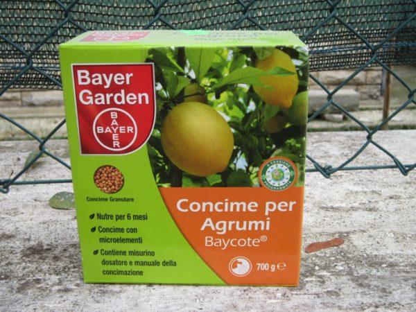 Один из видов удобрения для лимонов и цитрусовых