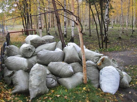 Приготовление компоста в мешках