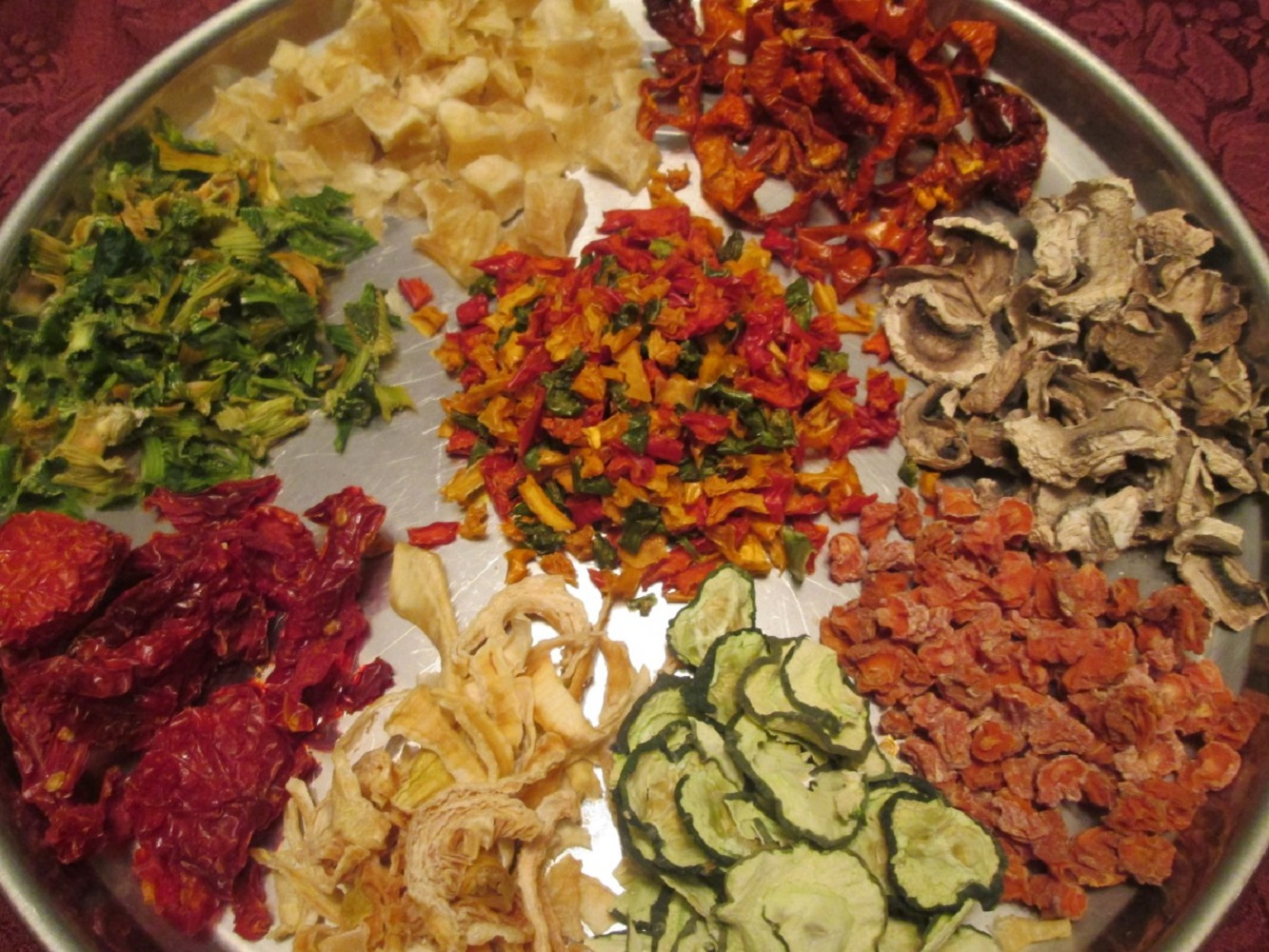 Сухие овощи