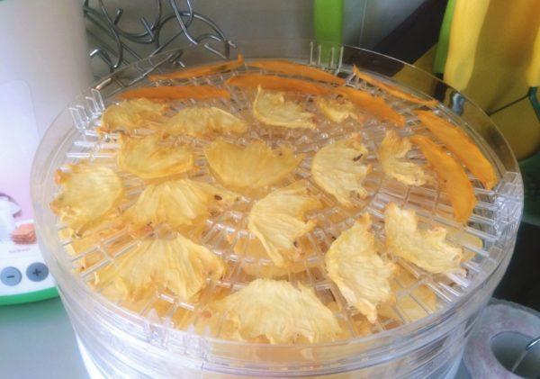 Ломтики ананаса в электросушилке